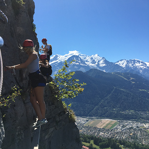 Via-Ferrata - Vue sur les hauteurs