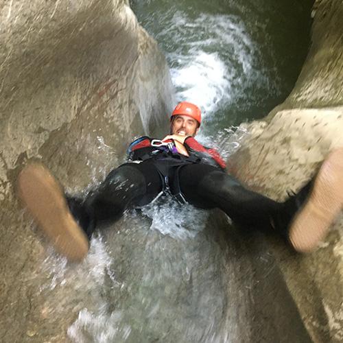 Canyoning - toboggant