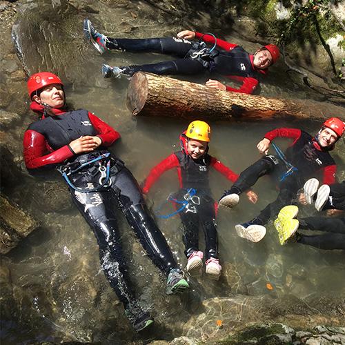 Canyoning - bain chaud