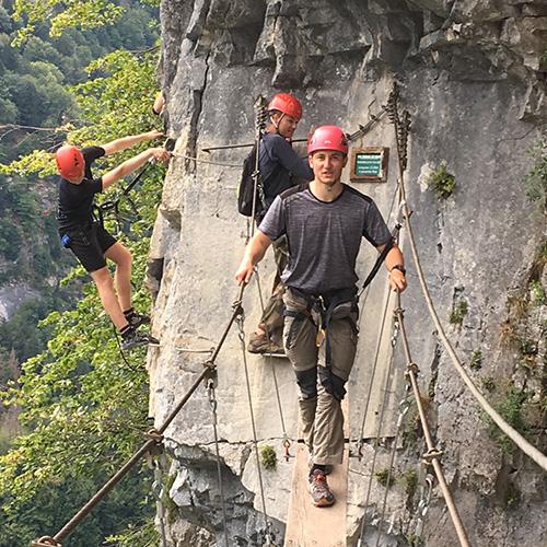 Via Ferrata - pont de singe