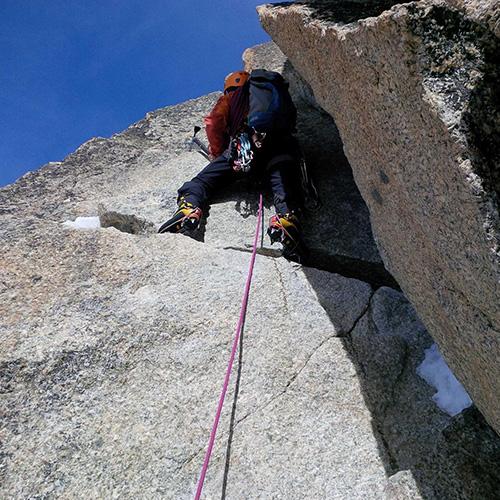 Bernard en course d'Alpinisme