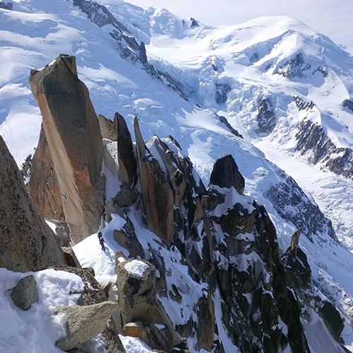 Course dans le massif du Mont Blanc