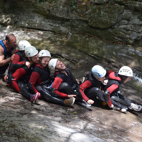 canyoning - une belle brochette de fun